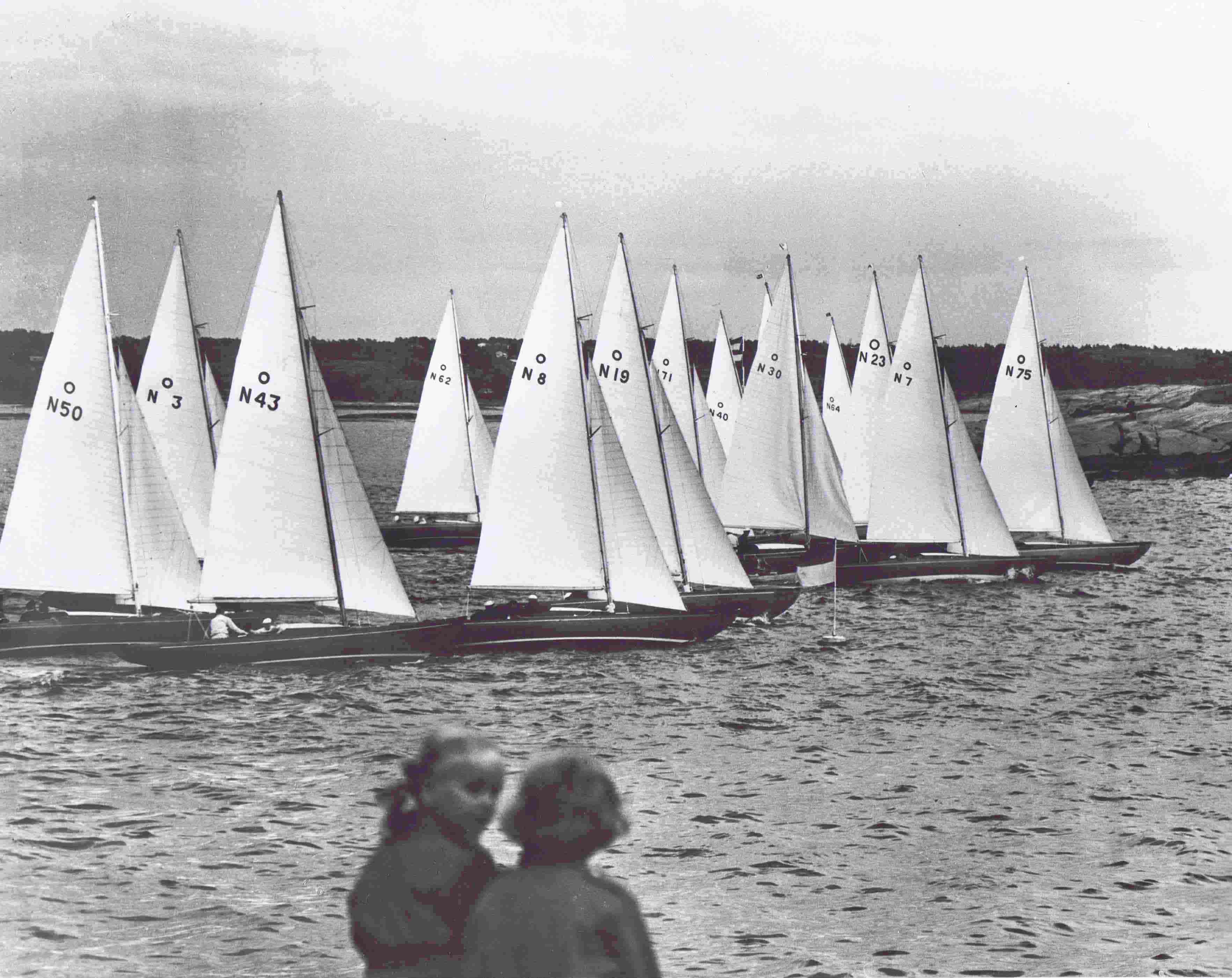 Knarrene starter på Hankø 1955 cr